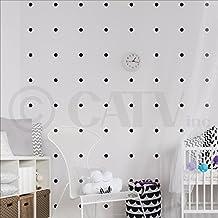 "Polka dot circles vinyl wall pattern decals (Black, 1"" Set of 525)"