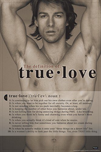 The Definition of True Love Funny Poster
