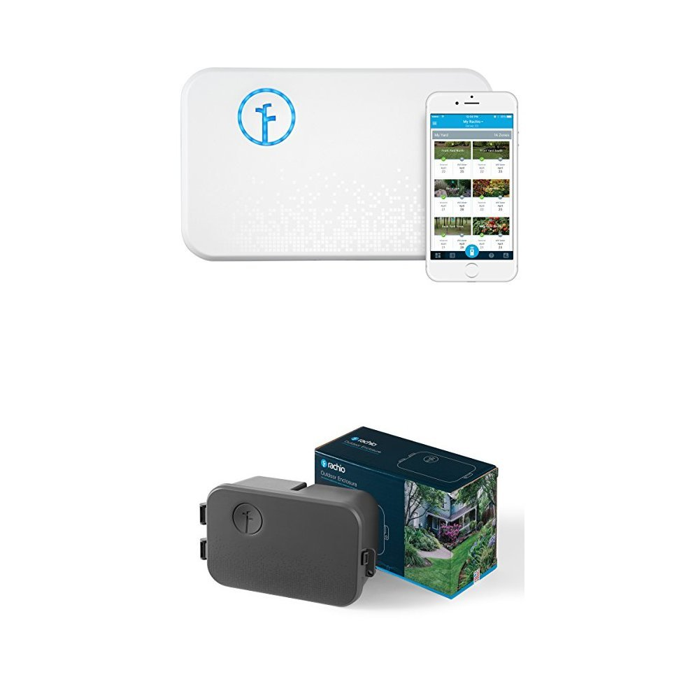 Rachio Smart Sprinkler Controller, 8 Zone 2nd Generation, Works with Amazon Alexa WITH Rachio Outdoor Enclosure, for 2nd Generation Sprinkler Controller by