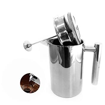 Amazon.com: Cafetera francesa de 1000 ml/34 oz de acero ...