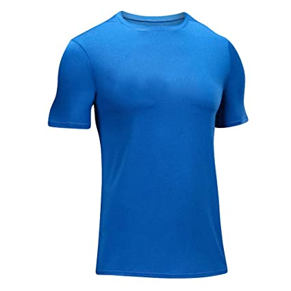 65d28deb Image Unavailable. Image not available for. Color: Men's Solid Compression  Shirts Crewneck Short-Sleeve Dri Fit Workout Shirts