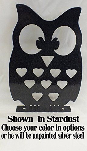 Owl Garden Art Metal Adorable Owl Decoration Handmade 18 Gauge Steel 7.5 Wide x 11.5 Tall