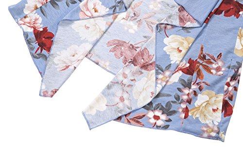Urban CoCo Women's Drape Front Open Cardigan Long Sleeve Irregular Hem (# 2-2, 2XL) by Urban CoCo (Image #4)