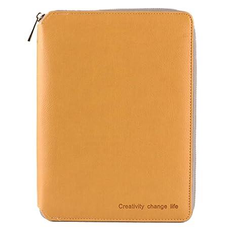 Amazon.com: MINILZY - Cuaderno de piel en espiral, A5, A6 ...