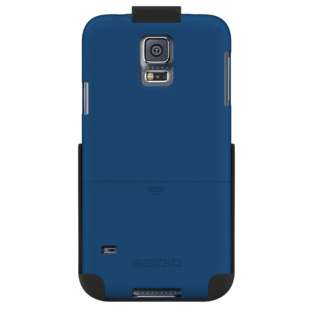 Seidio SURFACE Case and Holster Combo for Samsung Galaxy S5 - Retail Packaging - Royal Blue