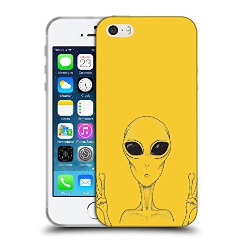 GoGoMobile Coque de Protection TPU Silicone Case pour // Q08580611 Téléphone étranger Banane Jaune // Apple iPhone 5 5S 5G SE