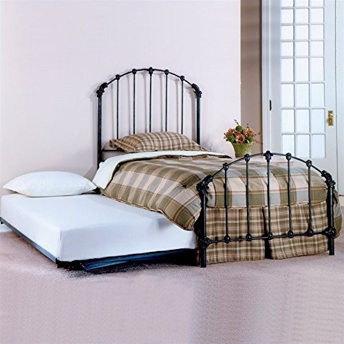 Hillsdale Furniture 346BTWHTR Bonita Bed Set with Rails and Trundle, Twin, Copper Mist Bonita Metal Bed