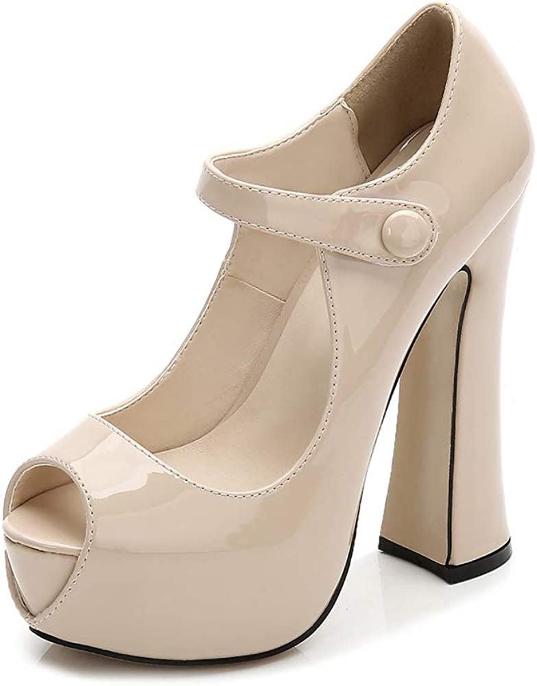 Chunky High Heels Pumps