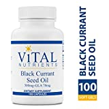 Vital Nutrients - Black Currant Seed Oil - Essential Omega 6 Fatty Acid - Contains Gamma Linolenic Acid (GLA) - Cartilage, Joint, Nerve Function Support - 100 Softgel Capsules per Bottle