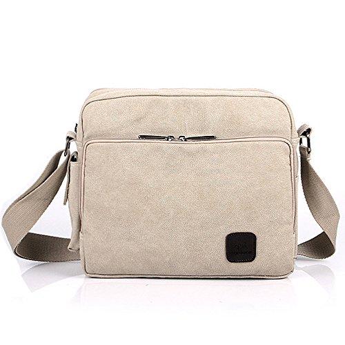 Multifunction Messenger Bag Canvas Casual Crossbody Beige Everyday Shoulder Mens Pelisy Onq5gZxUvw