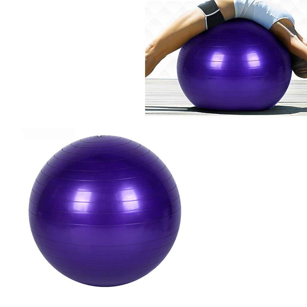 Yoga-Kugel Fitness-Trainings-Gleichgewicht Yoga Klasse Gymnastikball Kern Gymball PVC 45cm 17.7inch Lila