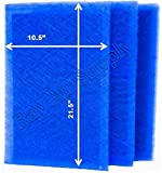 RAYAIR SUPPLY 12x24 Green Homes America Air Cleaner Replacement Filter Pads 12x24 Refills (3 Pack) Blue