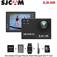 SJCAM SJ6 AIR Sports Action Camera, 1080P Waterproof Action Camera with Mount of Accessories, Black