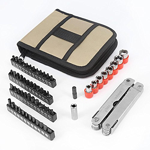 Multitool-Aidodo-Stainless-Steel-Multi-Tool-Kit-with-58-Pieces-Screwdriver-Bits-Silver