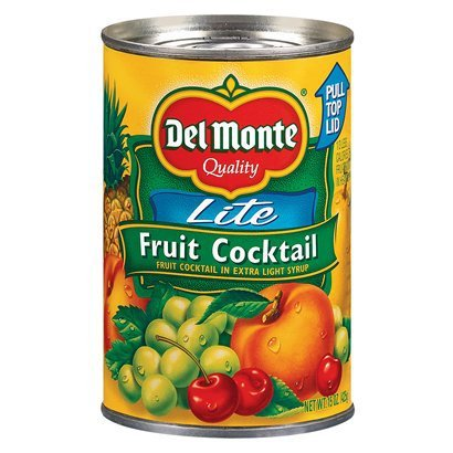 Del Monte, Lite, Fruit Cocktail in Extra Light Syrup, 15oz Can (Pack of 6)