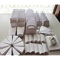 cajitas para mesa de dulces candybar BLANCAS, 80 piezas