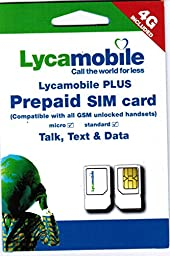 Lycamobile Plus Dual Sim Card with $55 Everything Unlimited (5gb Data@ 4g LTE Speed) for 30 Days