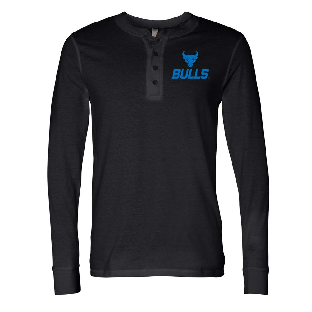 NCAA University at Buffalo Bulls PPBUF022 Mens Long Sleeve Jersey Henley
