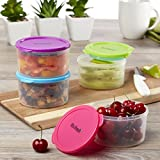 fresh fit containers - Fit & Fresh Multicolored Portion Control Containers, 1 Cup (Set of 4)