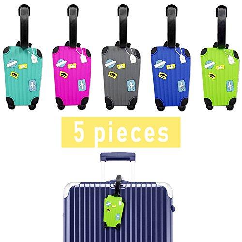 Luggage Tags - Lalonovo Luggage Tags - Travel ID Bag Tag(Pack of...
