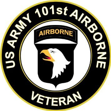US Army Veteran 101st Airborne Sticker Decal 3.8