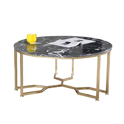 Living Room Coffee Table Marble Table Top Wrought Iron Table