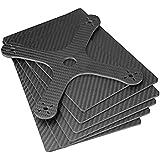 ZSJ New CNC Cutting 2.5mm 3K Twill Matt Carbon Fiber Panel 200X250mm 2.5mm Thickness Mini Pure Carbon Fiber Sheet For Hexacopter RC Drone 1pc/pack