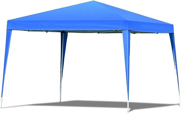 vengaconmigo Carpa Jardín Pabellón Plegable al Aire Libre 3 x 3M Carpa Cenador de Exterior para Camping Eventos (Azul): Amazon.es: Jardín