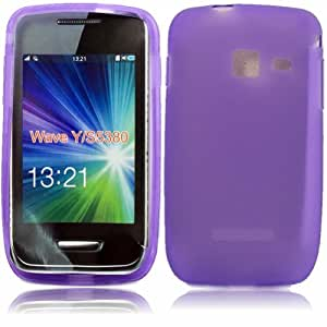 Gel Case Cover Shell For Samsung Galaxy Wave Y S5380 / Purple
