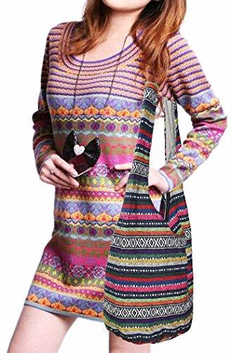 Witery Women's Sling Crossbody Bags Large Shoulder Shopping Hobo Bag Handbag Top Zip Bags Handmade Messenger Bag Wallet by Witery (Image #7)