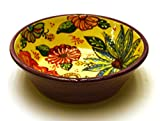 "Product review for Ceramic EARTHERN BOWL Nº3 , handmade and handpainted in flower decoration. 7,89""x7,89""x2,76"" (PURPLE)"