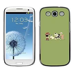 All Phone Most Case / Oferta Especial Duro Teléfono Inteligente PC Cáscara Funda Cubierta de proteccion Caso / Hard Case Samsung Galaxy S3 // Funny Cute Farm Animals