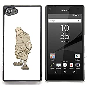 "For Sony Xperia Z5 Compact Z5 Mini (Not for Normal Z5) Case , Monster Solider Undead Warrior Soldat"" - Diseño Patrón Teléfono Caso Cubierta Case Bumper Duro Protección Case Cover Funda"