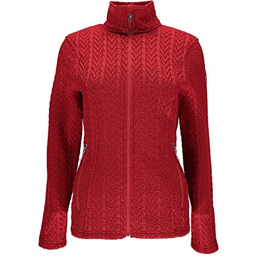 Spyder Women's Major Cable Stryke Jacket, Red, ()