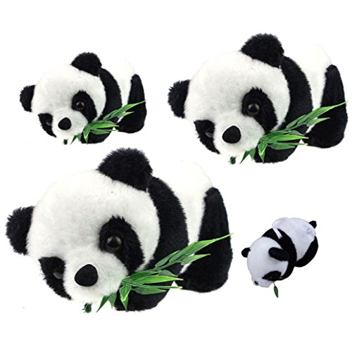 4 Size, Ikevan Panda doll Great Gift Gift For Girlfriend For Baby Kid Cute Soft Stuffed Panda Soft Animal Doll Toy (Size:M:201110cm)