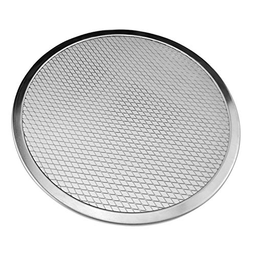 Wei&KYNM Aluminum Mesh Grill Pizza Screen Round Baking Tray Net Kitchen Tools Ovens Kit(None S S)