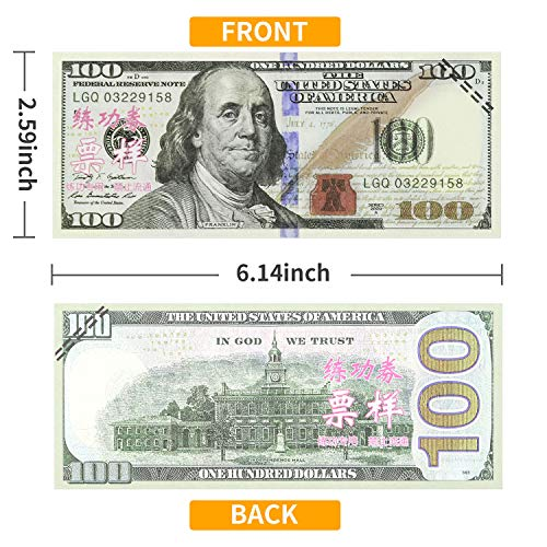 Winkeyes 100pcs Prop Money 100 Dollar Bills Play Money - Import It All