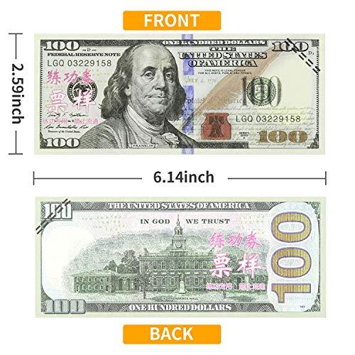 Winkeyes 100pcs Prop Money 100 Dollar Bills Play Money