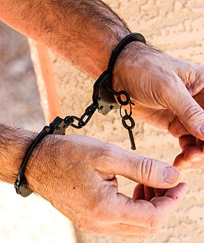 Under Control Tactical Best Real Law Enforcement Hand Cuffs Model Includes Double-Locking & 2 Keys - Perfect for Security Guards, Police, Military, Concerned Citizens!