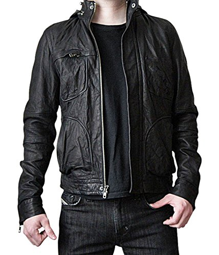 Mission Impossible Ghost Protocol Hooded Movie Jacket - Ethan Hunt MI4 Leather Jacket Christmas Gift (XS) by BlingSoul (Image #1)