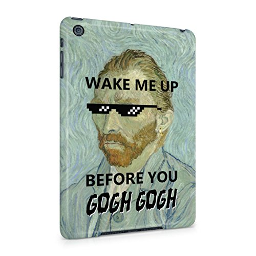 Wake Me Up Before You Gogh Gogh Thug Life Yolo Plastic Tablet Snap On Back Cover Shell For iPad - Tumblr Hipster Sunglasses