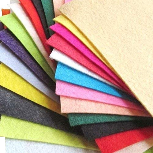 21 Sheets Summer Colors Collection Merino Wool blend Felt Sheets Sewing DIY Craft 6''X12'' by OTR Felt
