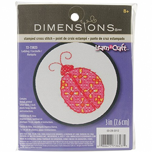 Dimensions Crafts NeedleCrafts Counted Cross Stitch, Ladybug
