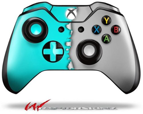 Ripped Colors Neon Teal Gray - Decal Style Skin fits