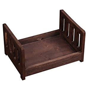 Newborn Props Photography Cot Baby Photo Small Wooden Bed Posing Baby Photography Props Cot Baby Photo Studio Props for Photo Home Accessories