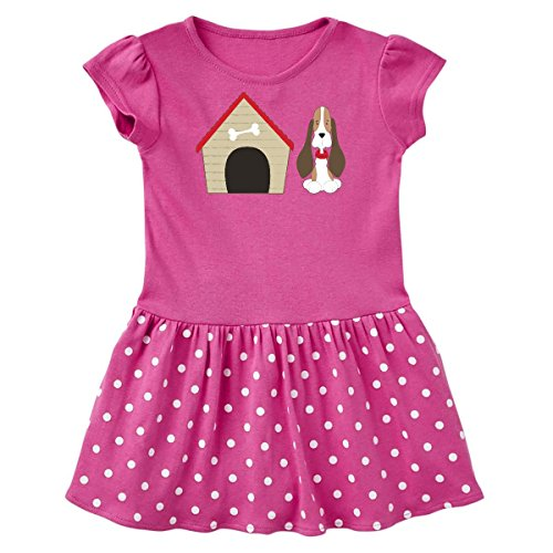 Dots Cotton Dog Collar (inktastic Dog House and Infant Dress 12 Months Raspberry With Polka Dots 266d2)