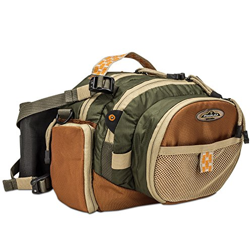 North Star Podium, Red River Fanny Fishing Pack, Easy Access Pack Replaces Fishing Vest (Caddis River)