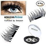 WEHADY False Magnetic Eyelashes 3D Reusable Fake Eyelashes , Ultra Thin, Natural Look , Reusable Perfect, 1Pairs 4 Pieces