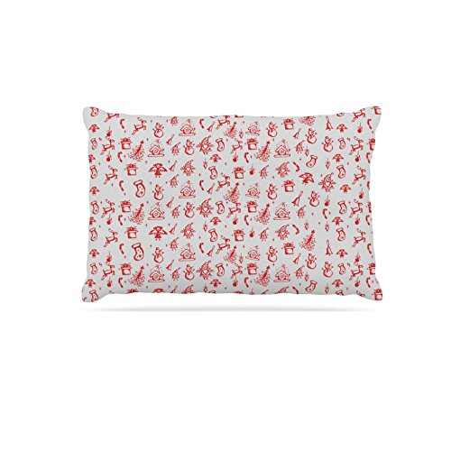 KESS InHouse Snap Studio White as Snow Simple Dog Bed, 50  x 40