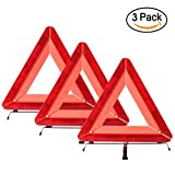Warning Triangle Car Reflectors Emergency Roadside Triangles Foldable Safety Triangle Kit 3-Pack